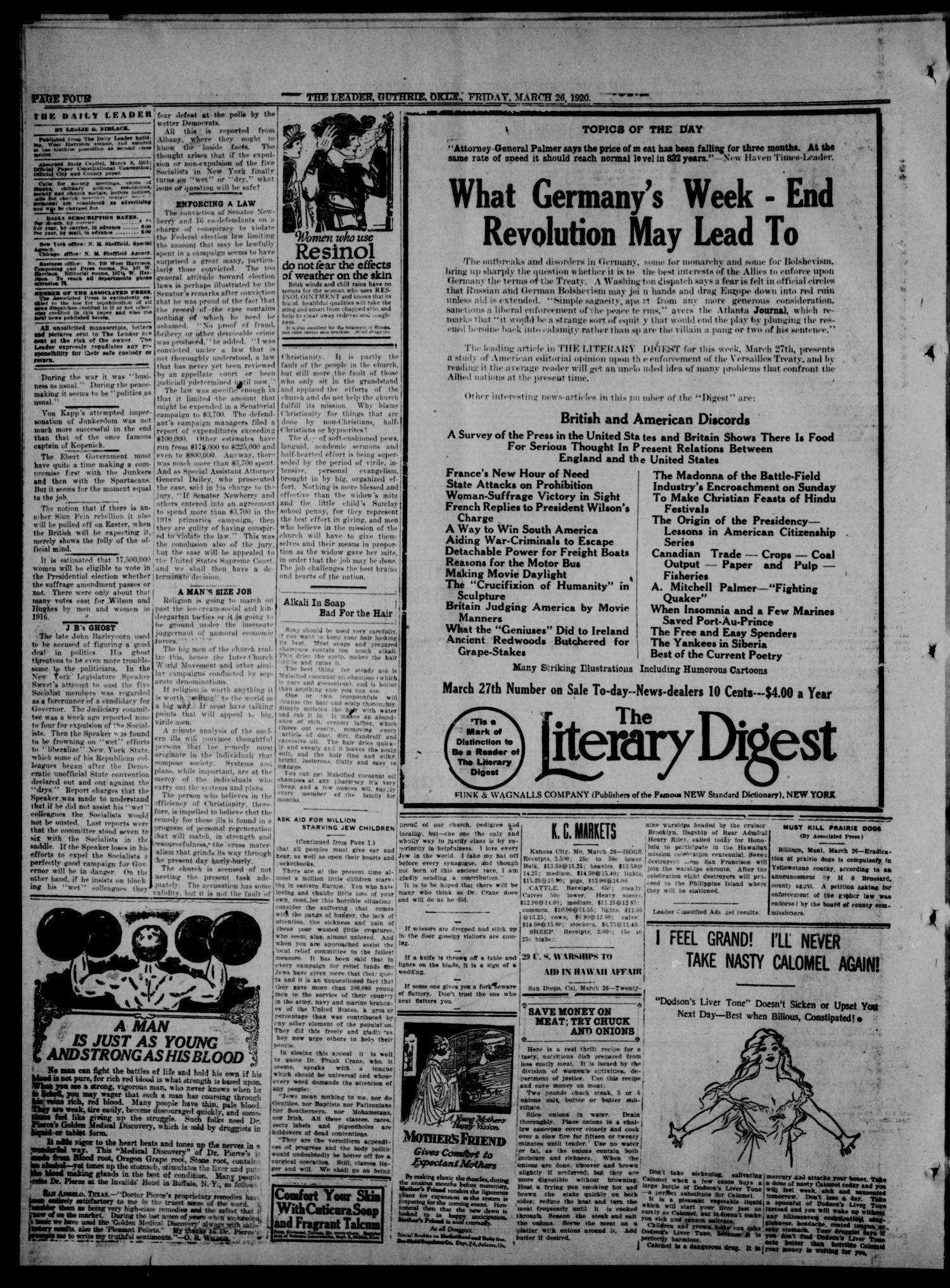 The Guthrie Daily Leader  (Guthrie, Okla ), Vol  54, No  21
