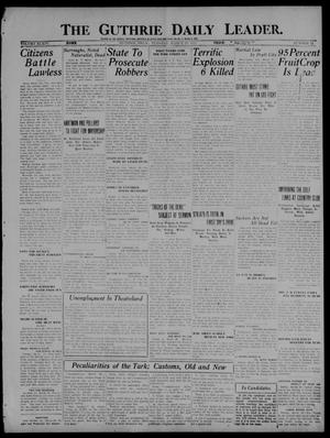Primary view of object titled 'The Guthrie Daily Leader. (Guthrie, Okla.), Vol. 54, No. 15, Ed. 1 Tuesday, March 29, 1921'.