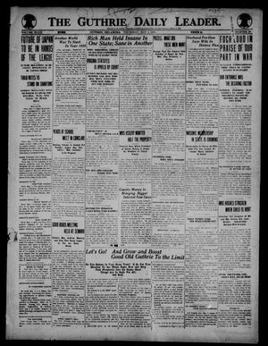 Primary view of object titled 'The Guthrie Daily Leader. (Guthrie, Okla.), Vol. 52, No. 60, Ed. 1 Thursday, May 1, 1919'.