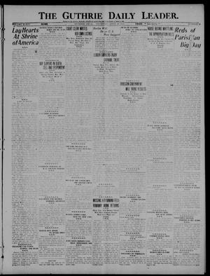 Primary view of object titled 'The Guthrie Daily Leader. (Guthrie, Okla.), Vol. 54, No. 41, Ed. 1 Thursday, April 28, 1921'.