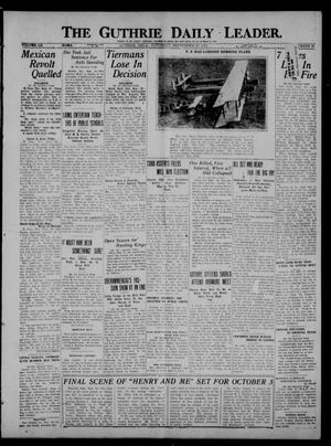 Primary view of object titled 'The Guthrie Daily Leader. (Guthrie, Okla.), Vol. 60, No. 10, Ed. 1 Saturday, September 30, 1922'.