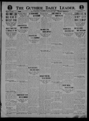 Primary view of object titled 'The Guthrie Daily Leader. (Guthrie, Okla.), Vol. 54, No. 3, Ed. 1 Saturday, September 4, 1920'.