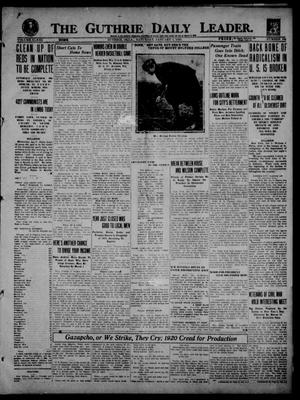 Primary view of object titled 'The Guthrie Daily Leader. (Guthrie, Okla.), Vol. 53, No. 106, Ed. 1 Saturday, January 3, 1920'.