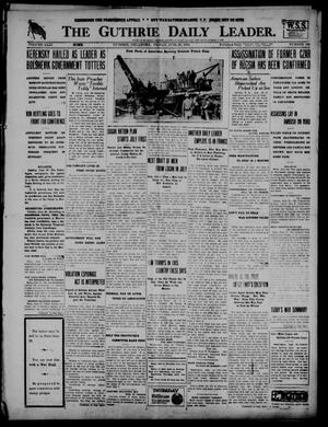 Primary view of object titled 'The Guthrie Daily Leader. (Guthrie, Okla.), Vol. 51, No. 130, Ed. 1 Friday, June 28, 1918'.