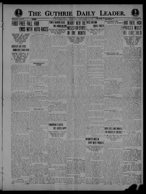 Primary view of object titled 'The Guthrie Daily Leader. (Guthrie, Okla.), Vol. 54, No. 19, Ed. 1 Thursday, September 23, 1920'.