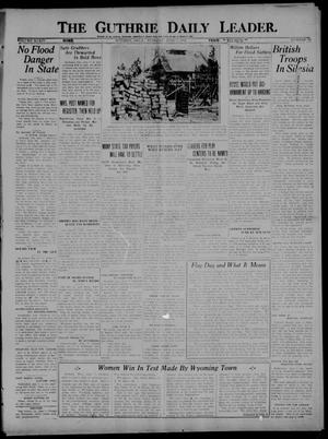 Primary view of object titled 'The Guthrie Daily Leader. (Guthrie, Okla.), Vol. 54, No. 73, Ed. 1 Tuesday, June 7, 1921'.