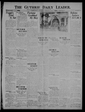 Primary view of object titled 'The Guthrie Daily Leader. (Guthrie, Okla.), Vol. 54, No. 145, Ed. 1 Saturday, February 26, 1921'.