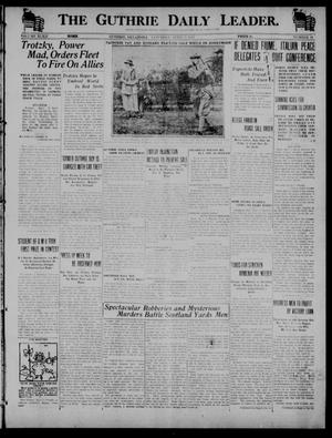 Primary view of object titled 'The Guthrie Daily Leader. (Guthrie, Okla.), Vol. 52, No. 39, Ed. 1 Saturday, April 5, 1919'.