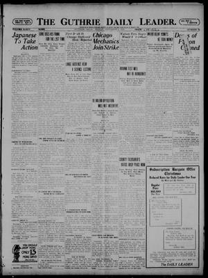 Primary view of object titled 'The Guthrie Daily Leader. (Guthrie, Okla.), Vol. 54, No. 73, Ed. 1 Friday, December 9, 1921'.