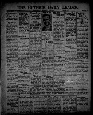 The Guthrie Daily Leader. (Guthrie, Okla.), Vol. 54, No. 37, Ed. 1 Wednesday, May 3, 1922