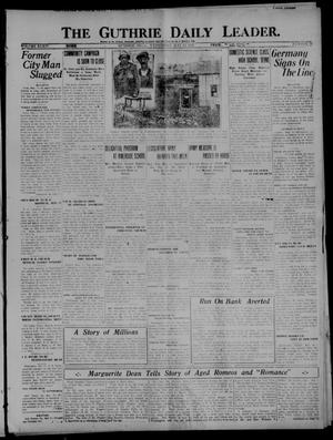 Primary view of object titled 'The Guthrie Daily Leader. (Guthrie, Okla.), Vol. 54, No. 52, Ed. 1 Wednesday, May 11, 1921'.