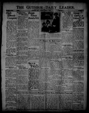 Primary view of object titled 'The Guthrie Daily Leader. (Guthrie, Okla.), Vol. 54, No. 27, Ed. 1 Friday, April 21, 1922'.
