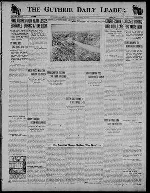 Primary view of object titled 'The Guthrie Daily Leader. (Guthrie, Okla.), Vol. 52, No. 43, Ed. 1 Thursday, April 10, 1919'.