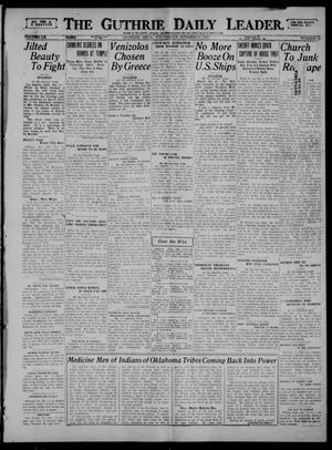 Primary view of object titled 'The Guthrie Daily Leader. (Guthrie, Okla.), Vol. 60, No. 19, Ed. 1 Wednesday, October 11, 1922'.