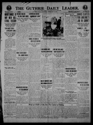 Primary view of object titled 'The Guthrie Daily Leader. (Guthrie, Okla.), Vol. 53, No. 142, Ed. 1 Saturday, February 14, 1920'.