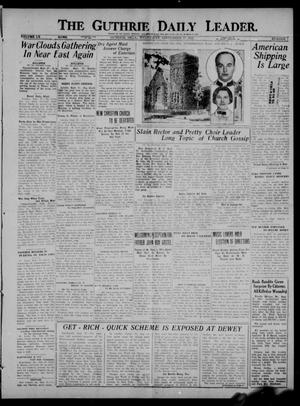 Primary view of object titled 'The Guthrie Daily Leader. (Guthrie, Okla.), Vol. 60, No. 7, Ed. 1 Wednesday, September 27, 1922'.