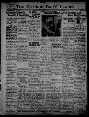Primary view of object titled 'The Guthrie Daily Leader. (Guthrie, Okla.), Vol. 54, No. 89, Ed. 1 Saturday, July 1, 1922'.