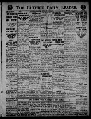 Primary view of object titled 'The Guthrie Daily Leader. (Guthrie, Okla.), Vol. 53, No. 64, Ed. 1 Thursday, November 13, 1919'.