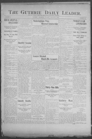 Primary view of object titled 'The Guthrie Daily Leader. (Guthrie, Okla.), Vol. 24, No. 149, Ed. 1, Tuesday, January 17, 1905'.
