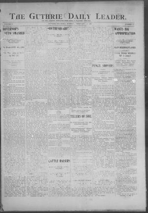 Primary view of object titled 'The Guthrie Daily Leader. (Guthrie, Okla.), Vol. 25, No. 18, Ed. 1, Tuesday, February 14, 1905'.