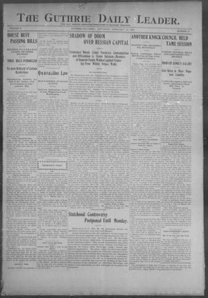 Primary view of object titled 'The Guthrie Daily Leader. (Guthrie, Okla.), Vol. 25, No. 22, Ed. 1, Saturday, February 18, 1905'.