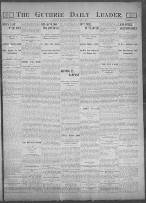 Primary view of object titled 'The Guthrie Daily Leader. (Guthrie, Okla.), Vol. 25, No. 84, Ed. 1, Wednesday, May 3, 1905'.