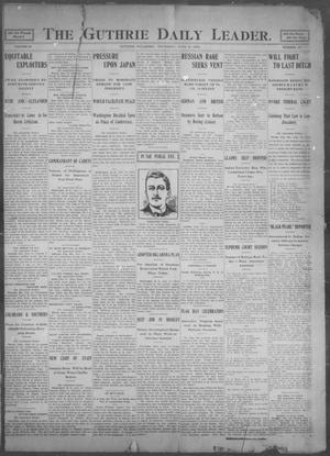 Primary view of object titled 'The Guthrie Daily Leader. (Guthrie, Okla.), Vol. 25, No. 121, Ed. 1, Thursday, June 15, 1905'.
