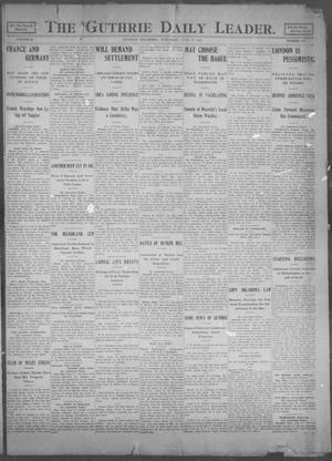 Primary view of object titled 'The Guthrie Daily Leader. (Guthrie, Okla.), Vol. 25, No. 123, Ed. 1, Saturday, June 17, 1905'.