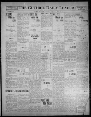 Primary view of object titled 'The Guthrie Daily Leader. (Guthrie, Okla.), Vol. 31, No. 71, Ed. 1, Thursday, August 6, 1908'.