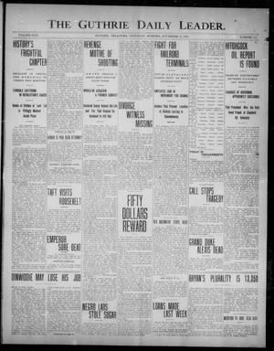 Primary view of object titled 'The Guthrie Daily Leader. (Guthrie, Okla.), Vol. 31, No. 155, Ed. 1, Saturday, November 14, 1908'.