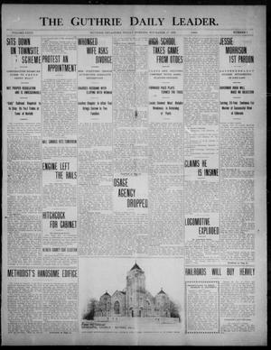 Primary view of object titled 'The Guthrie Daily Leader. (Guthrie, Okla.), Vol. 32, No. 7, Ed. 1, Friday, November 27, 1908'.