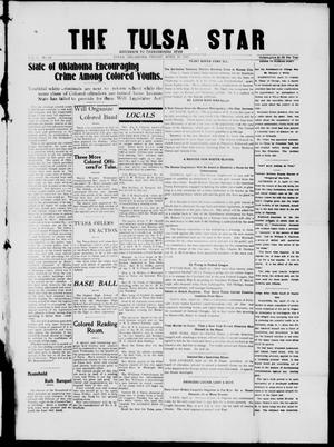 Primary view of object titled 'The Tulsa Star (Tulsa, Okla.), Vol. 1, No. 25, Ed. 1, Friday, April 18, 1913'.