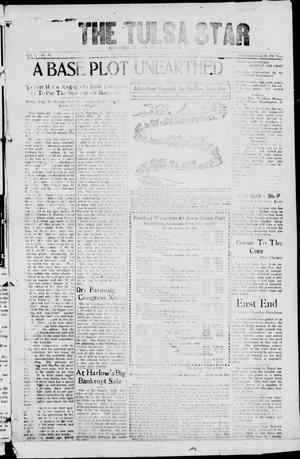 Primary view of object titled 'The Tulsa Star (Tulsa, Okla.), Vol. 1, No. 40, Ed. 1, Friday, August 29, 1913'.