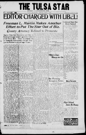 Primary view of object titled 'The Tulsa Star (Tulsa, Okla.), Vol. 1, No. 40, Ed. 1, Friday, September 5, 1913'.