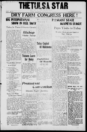Primary view of object titled 'The Tulsa Star (Tulsa, Okla.), Vol. 1, No. 51, Ed. 1, Saturday, October 25, 1913'.
