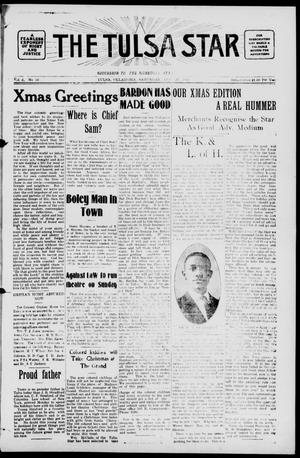 Primary view of object titled 'The Tulsa Star (Tulsa, Okla.), Vol. 2, No. 10, Ed. 1, Saturday, December 20, 1913'.