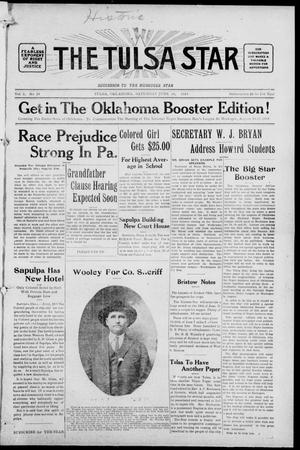 Primary view of object titled 'The Tulsa Star (Tulsa, Okla.), Vol. 2, No. 34, Ed. 1, Saturday, June 20, 1914'.