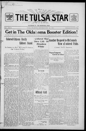 Primary view of object titled 'The Tulsa Star (Tulsa, Okla.), Vol. 2, No. 38, Ed. 1, Saturday, July 18, 1914'.