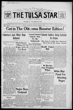 Primary view of object titled 'The Tulsa Star (Tulsa, Okla.), Vol. 2, No. 40, Ed. 1, Saturday, August 1, 1914'.