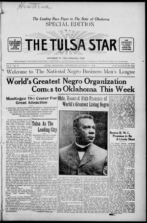 Primary view of object titled 'The Tulsa Star (Tulsa, Okla.), Vol. 2, No. 42, Ed. 1, Wednesday, August 19, 1914'.