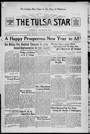 Primary view of object titled 'The Tulsa Star (Tulsa, Okla.), Vol. 3, No. 9, Ed. 1, Saturday, January 2, 1915'.