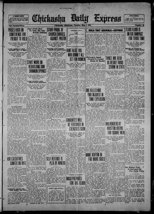 Primary view of object titled 'Chickasha Daily Express (Chickasha, Okla.), Vol. 23, No. 20, Ed. 1 Tuesday, May 9, 1922'.