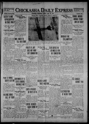 Primary view of object titled 'Chickasha Daily Express (Chickasha, Okla.), Vol. 22, No. 166, Ed. 1 Friday, July 15, 1921'.
