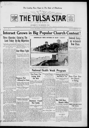 Primary view of object titled 'The Tulsa Star (Tulsa, Okla.), Vol. 3, No. 19, Ed. 1, Saturday, March 20, 1915'.