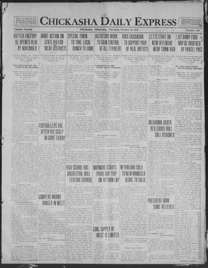 Primary view of object titled 'Chickasha Daily Express (Chickasha, Okla.), Vol. 20, No. 246, Ed. 1 Thursday, October 16, 1919'.
