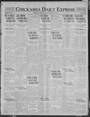 Primary view of object titled 'Chickasha Daily Express (Chickasha, Okla.), Vol. 20, No. 250, Ed. 1 Tuesday, October 21, 1919'.