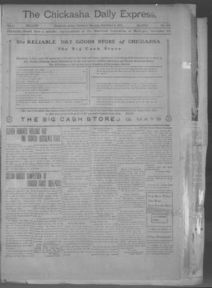 Primary view of object titled 'The Chickasha Daily Express. (Chickasha, Indian Terr.), Vol. 2, No. 282, Ed. 1 Monday, November 4, 1901'.