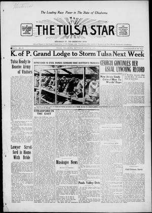 Primary view of object titled 'The Tulsa Star (Tulsa, Okla.), Vol. 3, No. 34, Ed. 1, Saturday, July 10, 1915'.