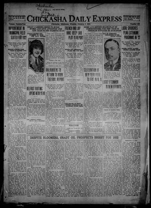 Primary view of object titled 'Chickasha Daily Express (Chickasha, Okla.), Vol. 22, No. 219, Ed. 1 Monday, January 2, 1922'.