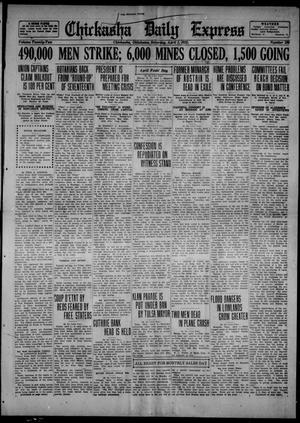 Primary view of object titled 'Chickasha Daily Express (Chickasha, Okla.), Vol. 22, No. 296, Ed. 1 Saturday, April 1, 1922'.